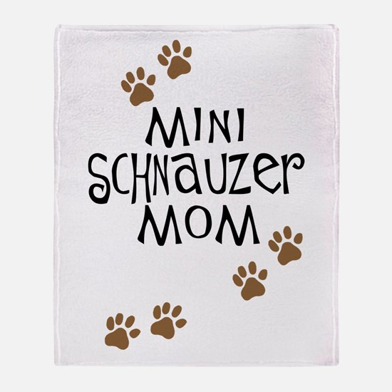 Mini Schnauzer Mom Throw Blanket