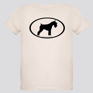 Mini Schnauzer Oval Organic Kids T-Shirt
