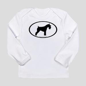 Mini Schnauzer Oval Long Sleeve Infant T-Shirt