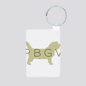 PBGV Dog Sage Aluminum Photo Keychain
