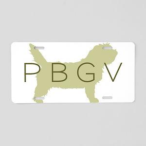 PBGV Dog Sage Aluminum License Plate