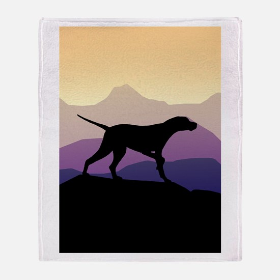 Purple Mountains Pointer Throw Blanket