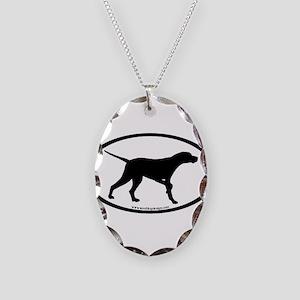 Pointer Dog Oval Necklace Oval Charm