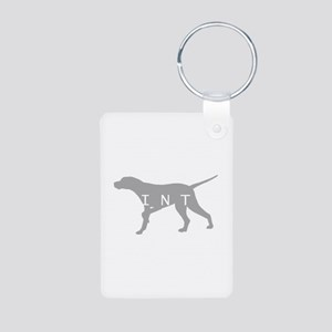 Pointer Dog Breed Aluminum Photo Keychain