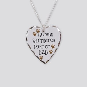 G. Shorthaired Pointer Dad Necklace Heart Charm