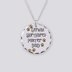 G. Shorthaired Pointer Dad Necklace Circle Charm