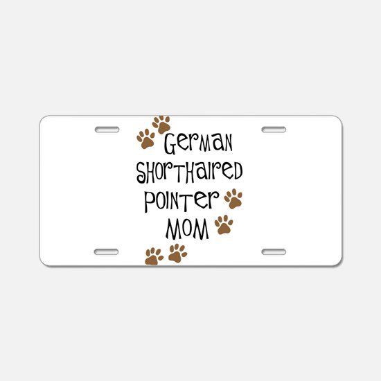 German Shorthaired Pointer Mo Aluminum License Pla
