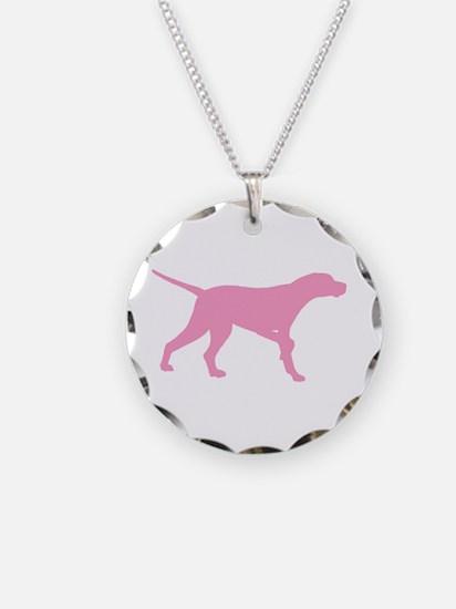 Pink Pointer Dog Necklace