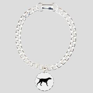 Pointer Dog On Point Charm Bracelet, One Charm