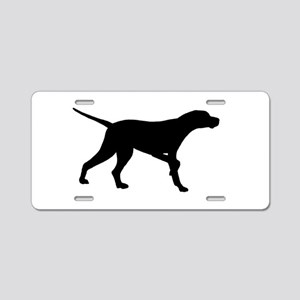 Pointer Dog On Point Aluminum License Plate