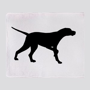 Pointer Dog On Point Throw Blanket