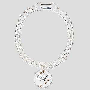 Puggle Dad Charm Bracelet, One Charm