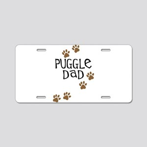 Puggle Dad Aluminum License Plate