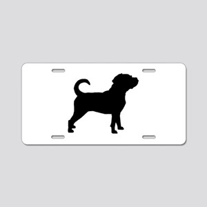 Puggle Dog Aluminum License Plate