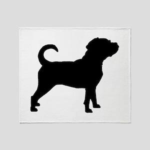Puggle Dog Throw Blanket