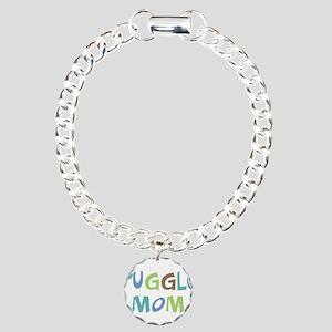 Puggle Mom (Text) Charm Bracelet, One Charm