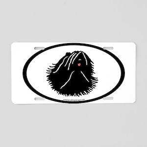 Puli Dog Oval Aluminum License Plate