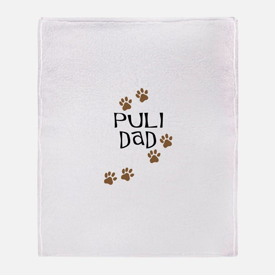Puli Dad Throw Blanket