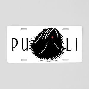 Puli Dog w/ Puli Text Aluminum License Plate