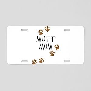 Mutt Mom Aluminum License Plate
