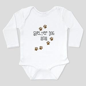 Shelter Dog Mom Long Sleeve Infant Bodysuit