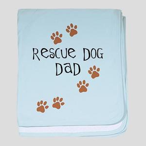 Rescue Dog Dad baby blanket