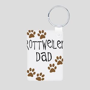 Rottweiler Dad Aluminum Photo Keychain
