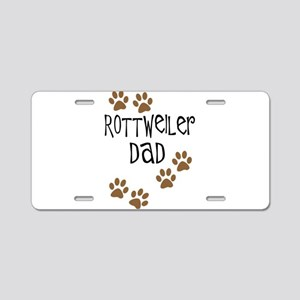 Rottweiler Dad Aluminum License Plate