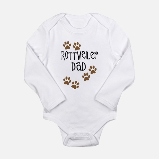Rottweiler Dad Long Sleeve Infant Bodysuit