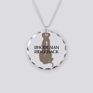 Ridgeback w/ Text Necklace Circle Charm