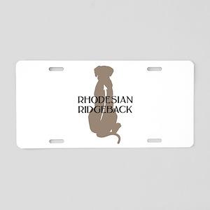 Ridgeback w/ Text Aluminum License Plate