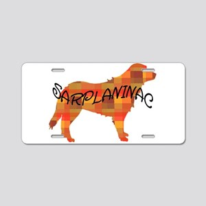 plaid sarplaninac Aluminum License Plate