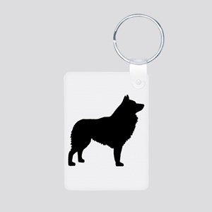 Schipperke Aluminum Photo Keychain