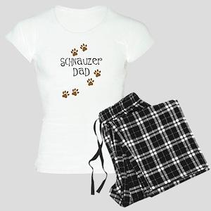 Paw Prints Schnauzer Dad Women's Light Pajamas