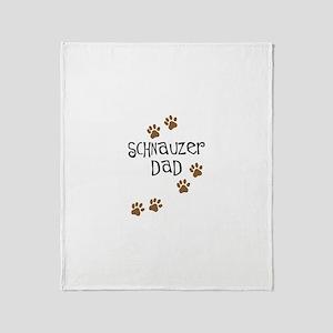 Paw Prints Schnauzer Dad Throw Blanket