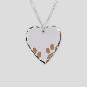Big Paws Schnauzer Mom Necklace Heart Charm
