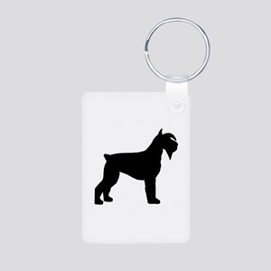 Schnauzer Dog Aluminum Photo Keychain