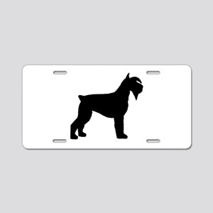 Schnauzer Dog Aluminum License Plate