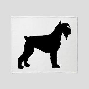 Schnauzer Dog Throw Blanket