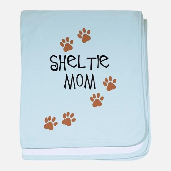 Sheltie Mom baby blanket