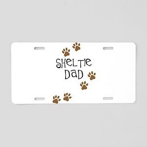 Sheltie Dad Aluminum License Plate