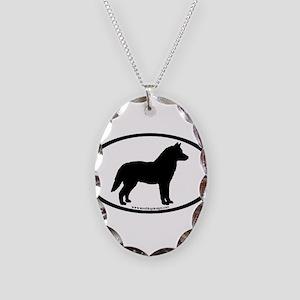 Siberian Husky Dog Oval Necklace Oval Charm