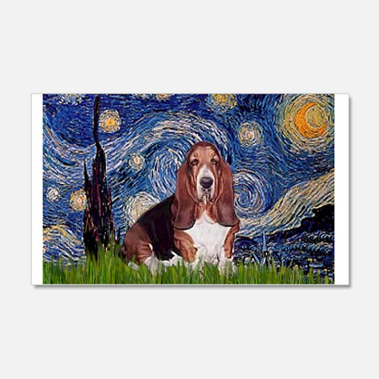 Starry / Basset Hound Decal Wall Sticker