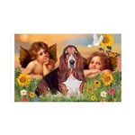 2 Angels & Basset 35x21 Wall Decal