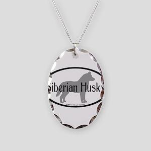 Siberian Husky Oval Necklace Oval Charm