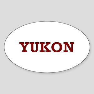 Yukon Sticker (Oval)