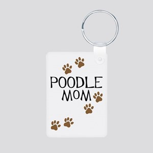 Poodle Mom Aluminum Photo Keychain