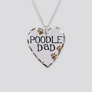Poodle Dad Necklace Heart Charm