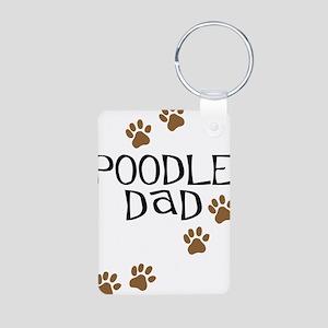 Poodle Dad Aluminum Photo Keychain