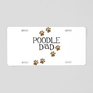 Poodle Dad Aluminum License Plate